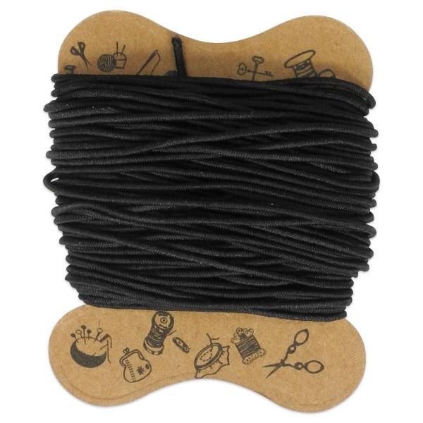 elastische Kordel 0,8mm 10m schwarz Kunstfaser