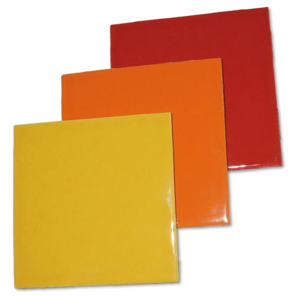 Fliesen 100x100x4mm 3er-Set gelb-rot-mix