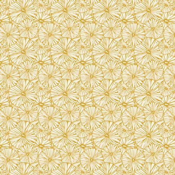 Decoupagepapier Texture stilisierte Blüten creme/gold von Décopatch, 30x40cm, mit Metalliceffekt