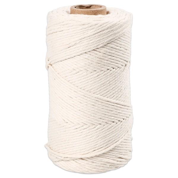 Makrameegarn Ø2mm 330g naturweiß 80% recycelter Baumwolle, 20% Polyester, LL 198m