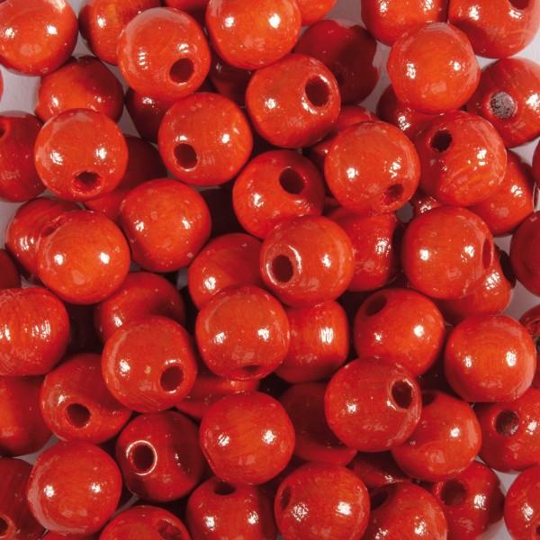 Holzperlen 8mm 85 St. orange Lochgröße ca. 2,3mm