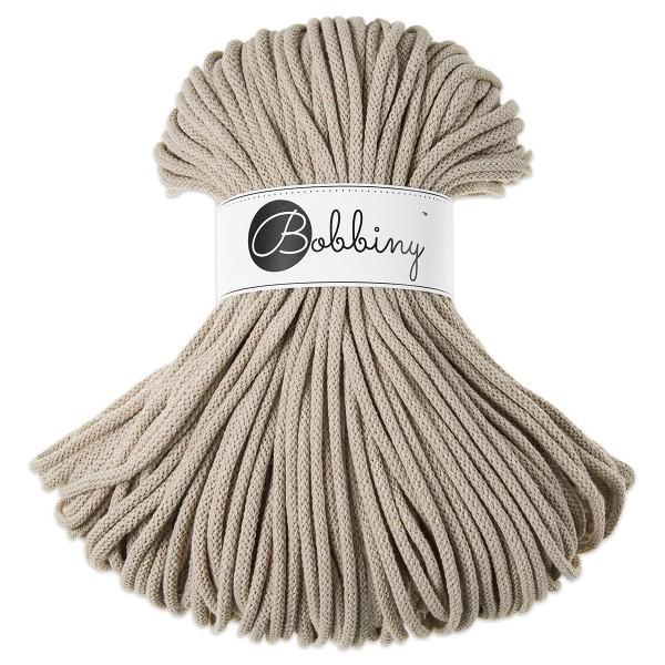 Bobbiny Rope-Garn Premium Ø5mm beige ca. 400g-500g, 100% Baumwolle, LL 100m