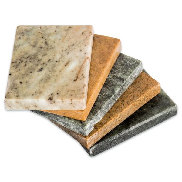 Speckstein-Scheibe ca. 8x6x1cm 10 St. rechteckig Farbe variiert