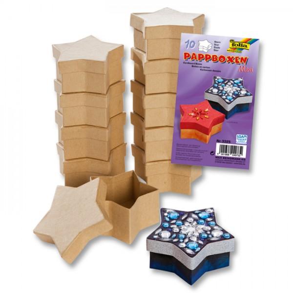 Pappschachteln Mini 8,5x7,5x4cm 10 St. sternförmig
