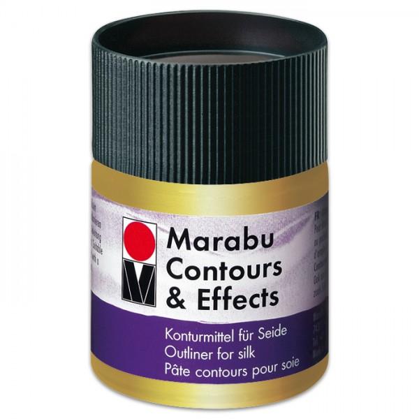 Contours & Effects 50ml metallic-gold Konturenfarbe für Seide