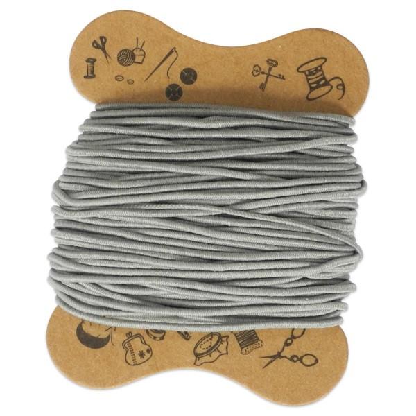 elastische Kordel 0,8mm 10m grau Kunstfaser