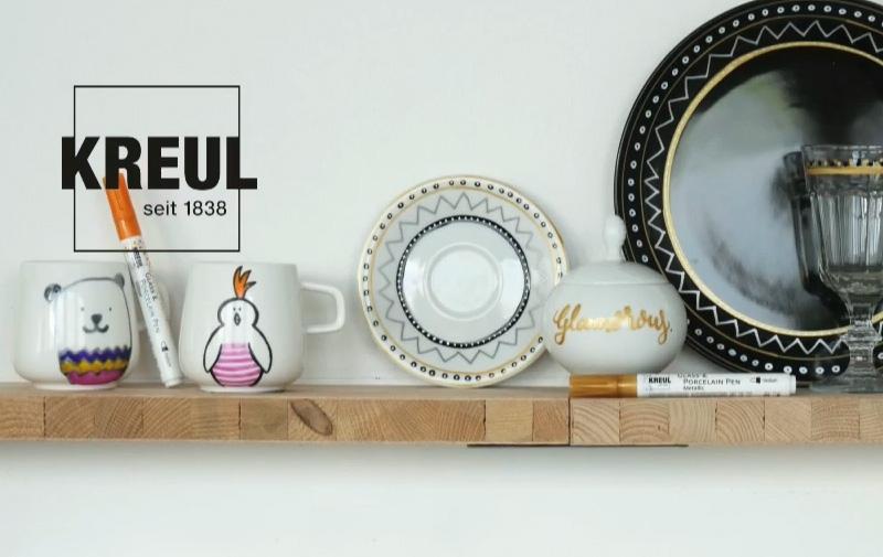 """Video """"Glamour, Glitzer und echte Highlights mit KREUL Glass & Porcelain Pens"""""""