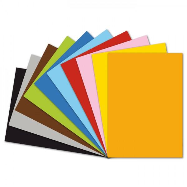 Fotokarton 300g/m² 50x70cm 50 Bl. 10 Farben