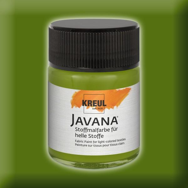 JAVANA Stoffmalfarbe helle Stoffe 50ml olivgrün