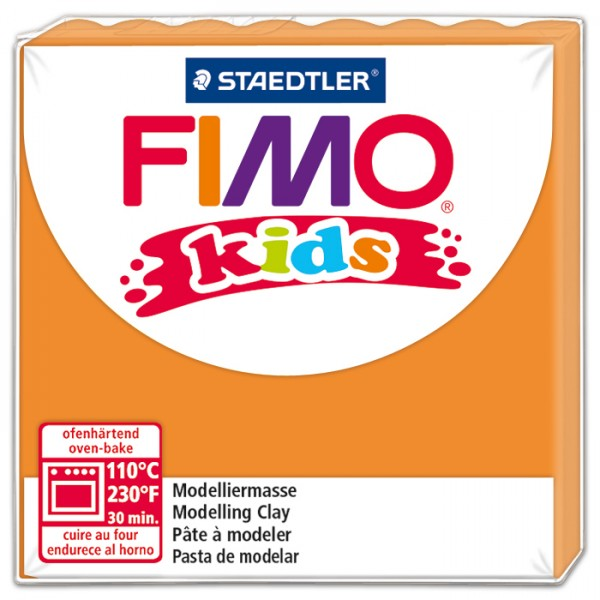 FIMO kids 55x55x10mm 42g orange ofenhärtende Modelliermasse