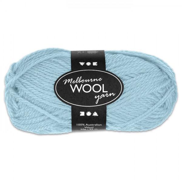 Garn Melbourne Filzwolle 50g helltürkis 100% Wolle, LL 92m, Nadel Nr. 4