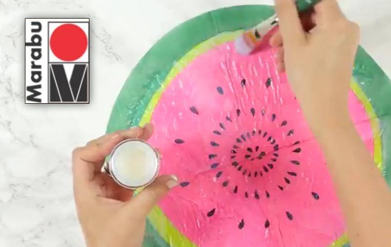 "Video ""Kork-Pinnwand mit Melonenmuster"" in Serviettentechnik"