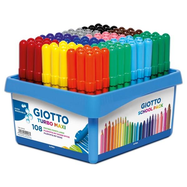 Giotto Turbo Maxi 108 Fasermaler/12 Farben Strichbreite 5mm