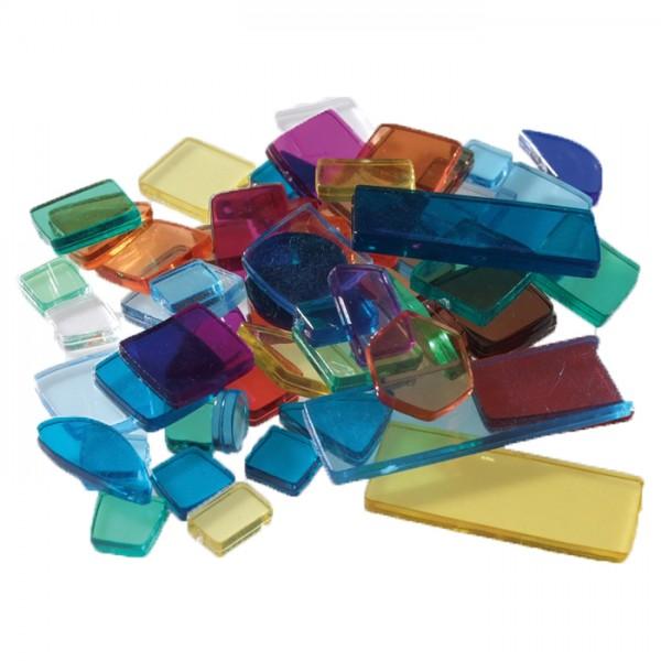 Acryl-Mosaik Lucy Formen-Mix 100g bunt-mix transparent, ca. 2mm, ca. 440 Stück