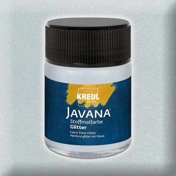 Javana Stoffmalfarbe Glitter 50ml silber