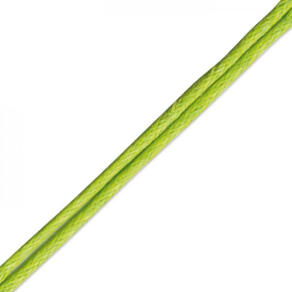 Kordel gewachst 1mm 10m hellgrün Synthetik