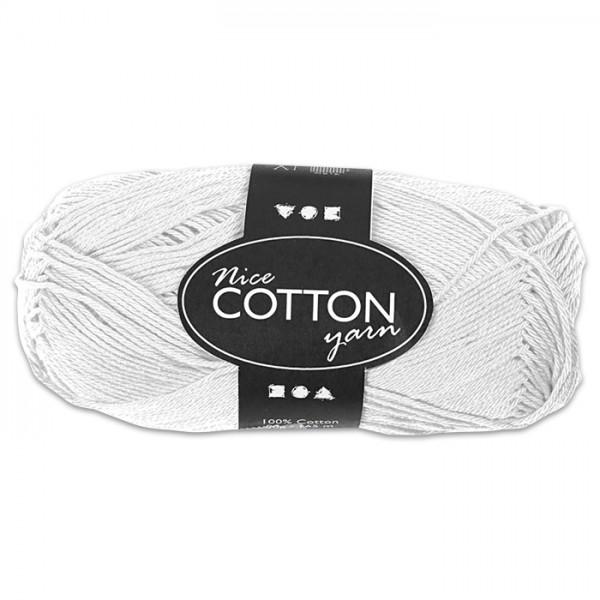 Baumwollgarn 50g weiß 100% Baumwolle, für Nadel Nr. 3-3,5