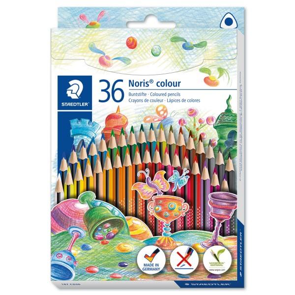 Noris colour 187 Mine 3mm 36 Farbstifte/Farben Dreikantform