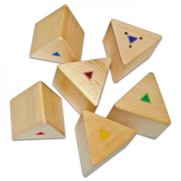 Geräusch Prismen Lernspiel Holz, 2x6 Stück, ab 3 Jahren