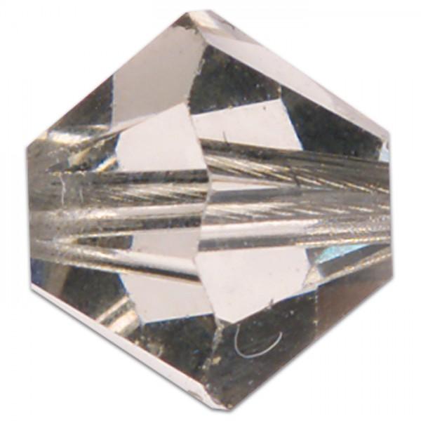 Glasschliffperlen 8mm 5 St. black diamond Swarovski, Lochgr. ca. 1mm