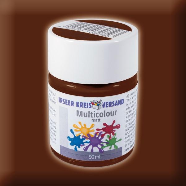 Acryl-Mattfarbe 50ml rotbraun Multicolour Acryllack