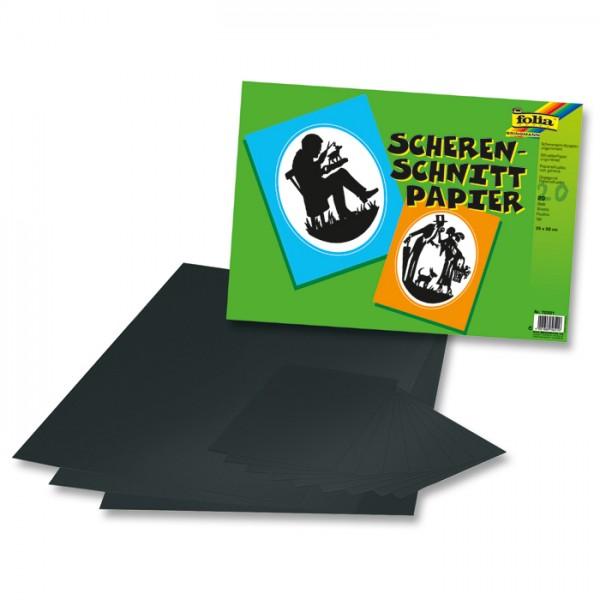 Scherenschnittpapier 35x50cm 20 Bl. schwarz ungummiert
