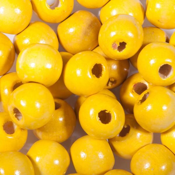 Holzperlen 6mm 120 St. gelb Lochgr. ca. 2mm