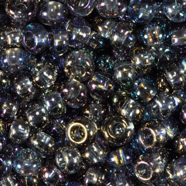 Rocailles transparent AB 2,6mm 17g grau Glas, Lochgr. ca. 0,9mm