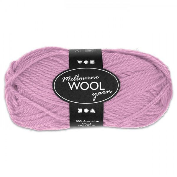 Garn Melbourne Filzwolle 50g altrosa/flieder 100% Wolle, LL 92m, Nadel Nr. 4