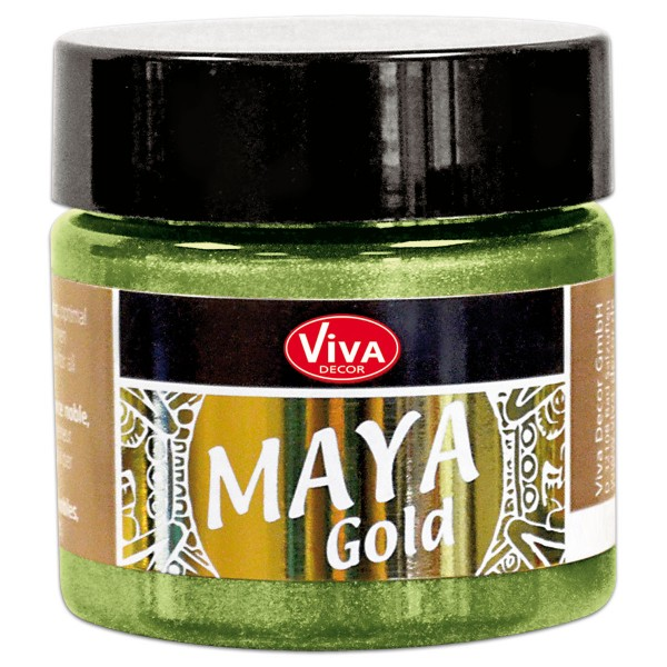 Maya-Gold Dekorfarbe flüssig 45ml avocado