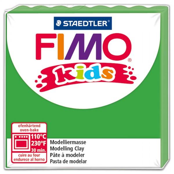 FIMO kids 55x55x10mm 42g grün ofenhärtende Modelliermasse