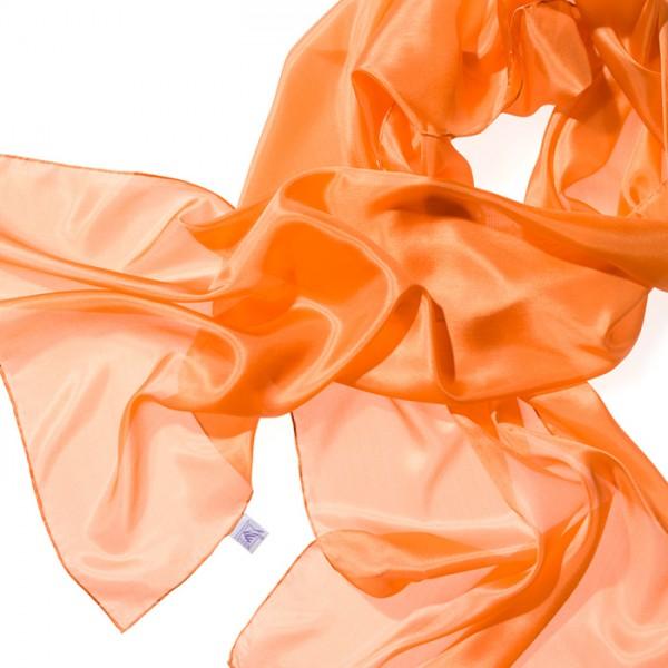 Schal Seide Pongé 05 180x45cm orange 100% Seide
