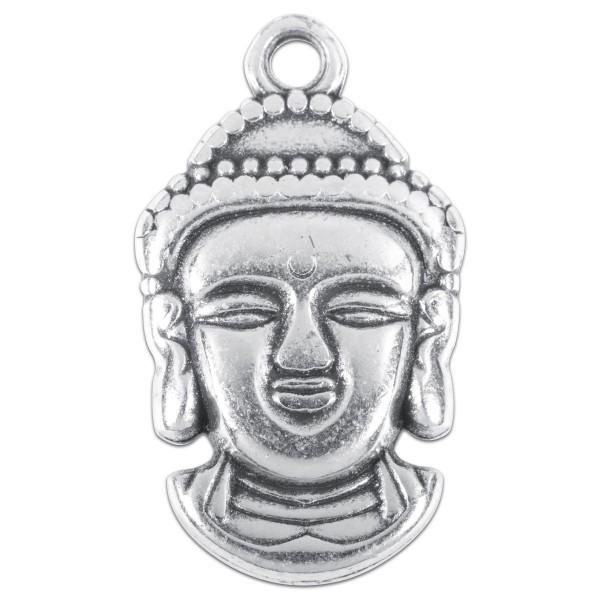 Metallanhänger Buddha ca. 23x15mm altplatinfarben Lochgröße ca. 2mm