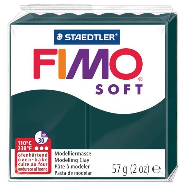FIMO soft 55x55x15mm 57g smaragd ofenhärtende Modelliermasse