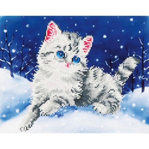 Diamond Dotz 35,5x27,9cm Katze im Schnee