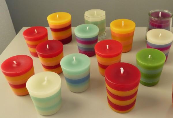 Schöne Kerzen von Frau Fürst!