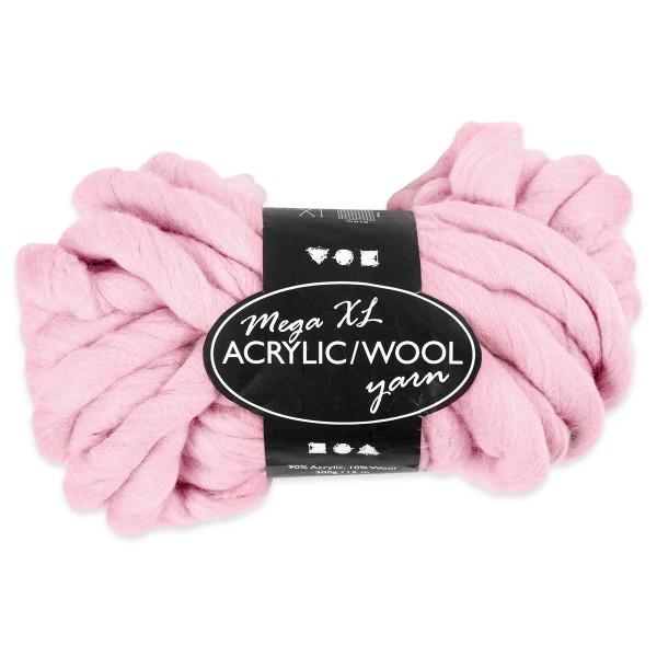 XXL Acryl-Wolle LL ca. 15m 300g rosa 90% Polyacryl, 10% Wolle, für Nadel Nr. 35