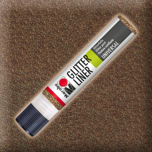 Marabu Glitter Liner 25ml nougat universelle Effektfarbe