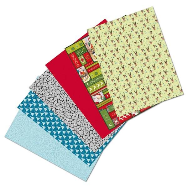 Decoupagepapier Großpack 6 Designs 30 Bl. Set 4 von Décopatch, Bogen je 30x40cm, 20g/m²
