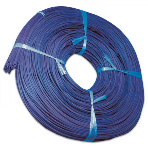 Peddigrohr 3mm 500g gebündelt blau