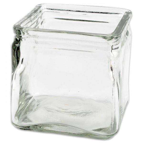 Windlichtglas quadratisch 7,5x7,5x8cm