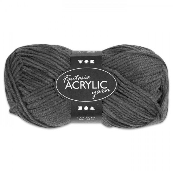 Fantasia Acryl-Wolle 50g grau 100% Polyacryl, für Nadel Nr. 4