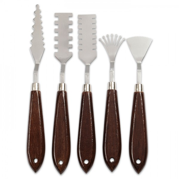 Malmesser-Set 17-21cm 5 St. Metall/Holz