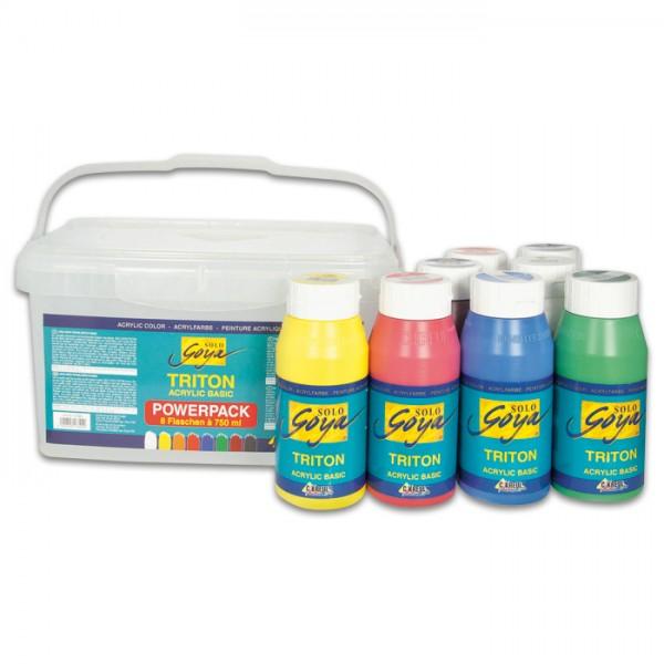 Triton Acrylic Basic Powerpack 8 Farben à 750ml