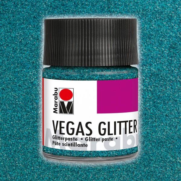 Vegas Glitter Effektpaste 50ml aquablau
