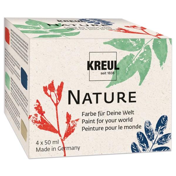 KREUL Nature Farben-Set 4 Farben à 50ml aus 84% nachhaltigen Rohstoffen