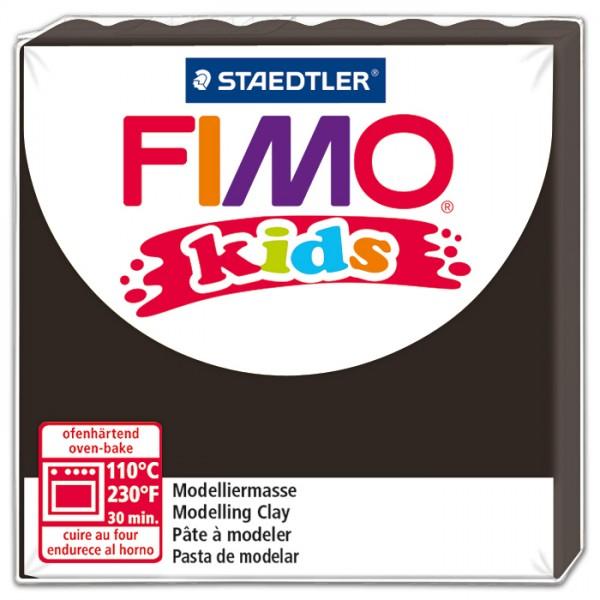 FIMO kids 55x55x10mm 42g schwarz ofenhärtende Modelliermasse