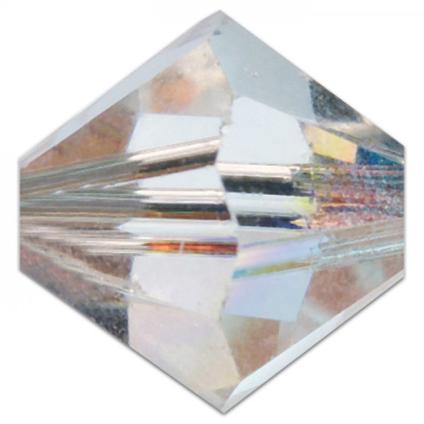 Glasschliffperlen 8mm 5 St. crystal AB Swarovski, Lochgr. ca. 1mm