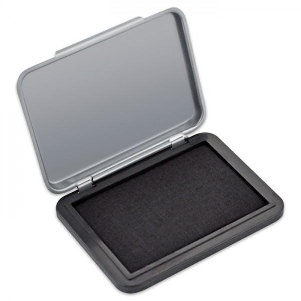Stempelkissen 6,5x5cm Kissenmaß schwarz Schachtel: 8x6cm