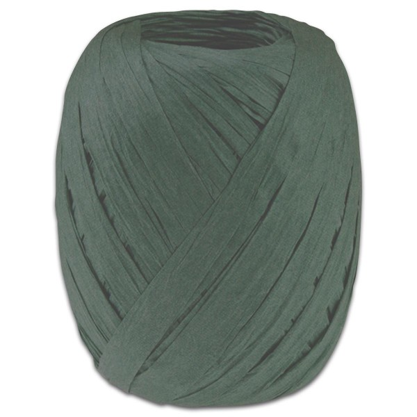 Paper-Raffia Bastband 10mm 30m tannengrün 100% Viskose